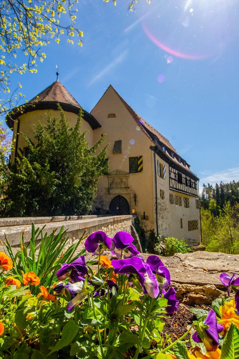 Blick auf Burg Rabenstein in der Fränkischen Schweiz
