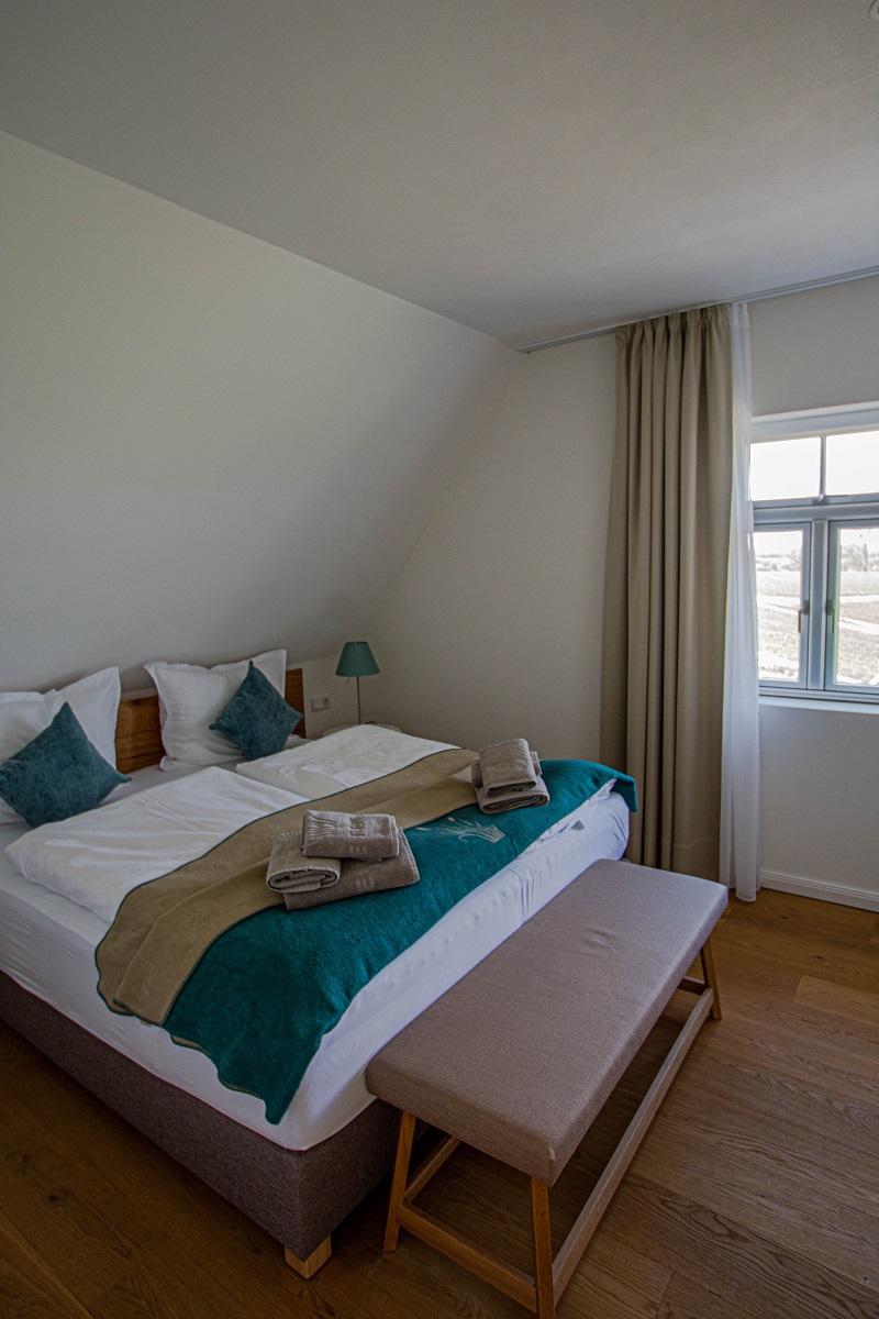 Schlafzimmer im Reetdorf Geltinger Birk