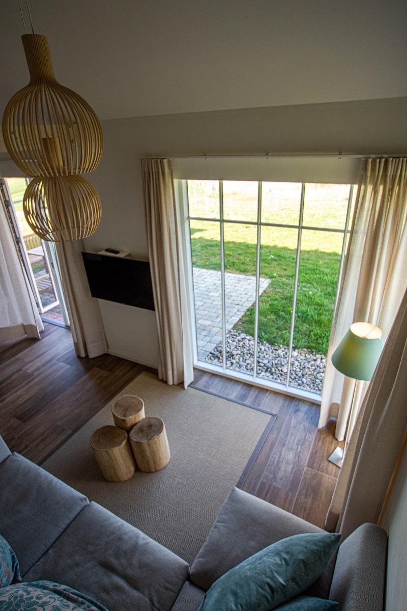 Wohnzimmer im Reetdorf Geltinger Birk