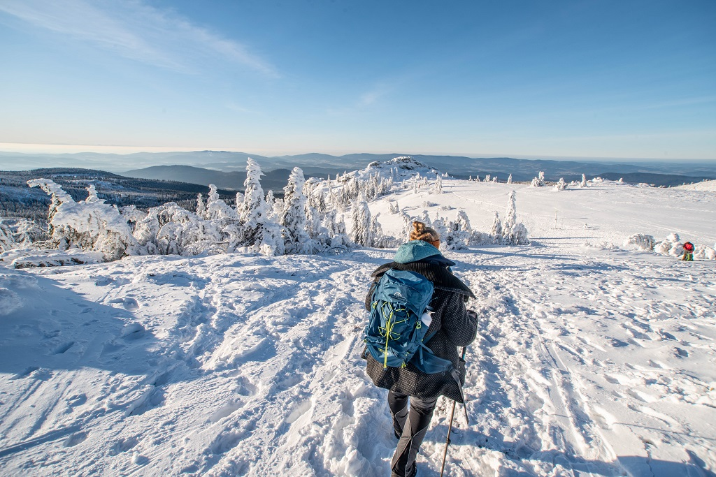 Wandern im Winter am Großen Arber
