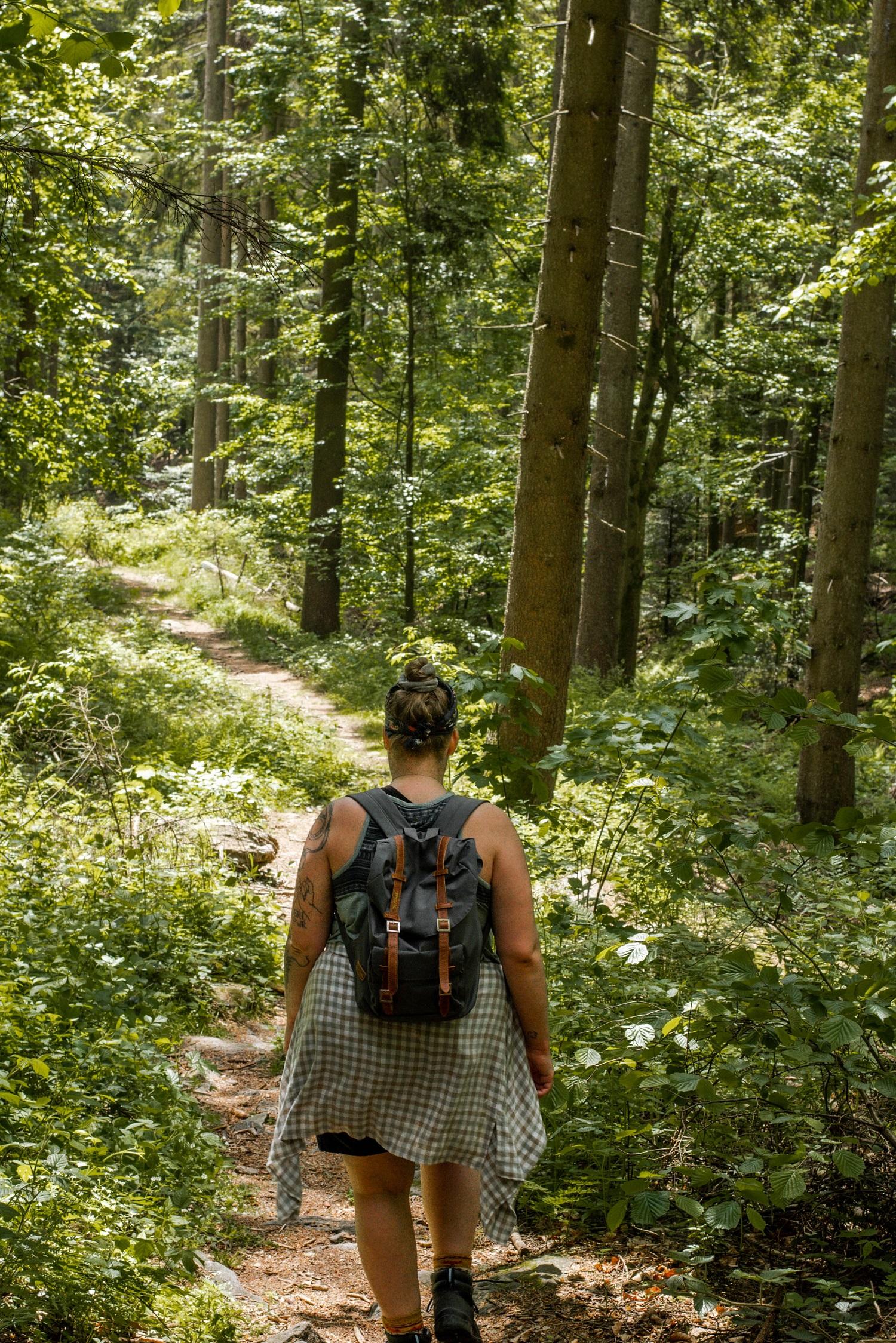 Wandern zu den Nagelsteiner Wasserfällen