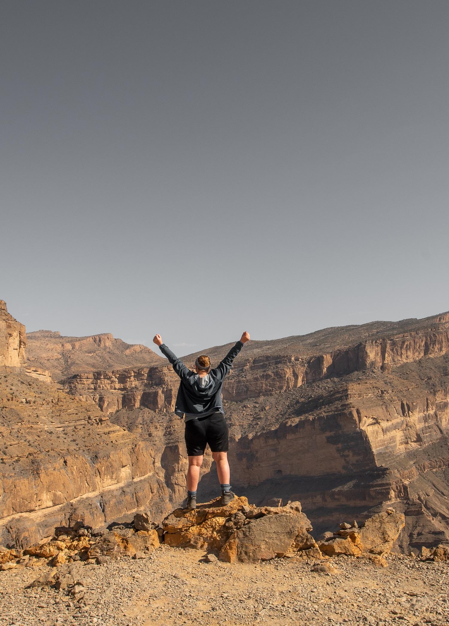 Wandern am Balcony Walk im Oman