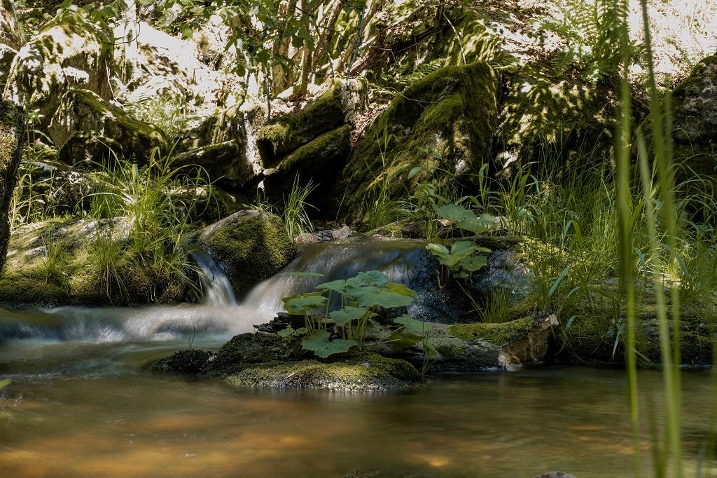 Steinklamm kleiner Wasserfall