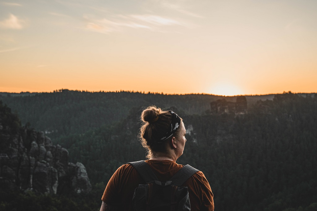 Aufnahme von mir beim Sonnenaufgang