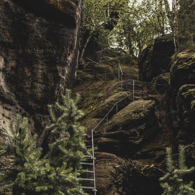 Leiter hinauf zum Gohrisch