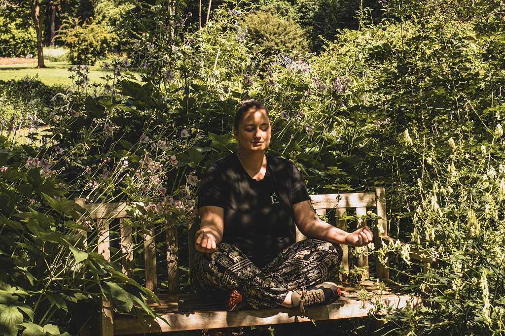 Meditation im Botanischen Garten