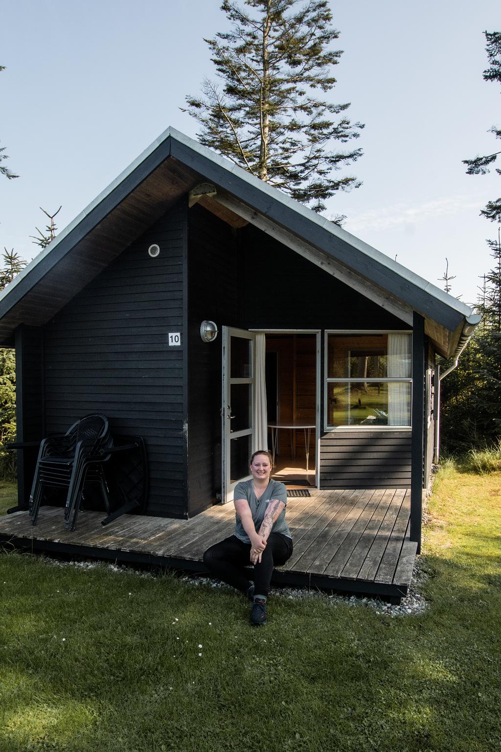 Hütte auf Campingplatz