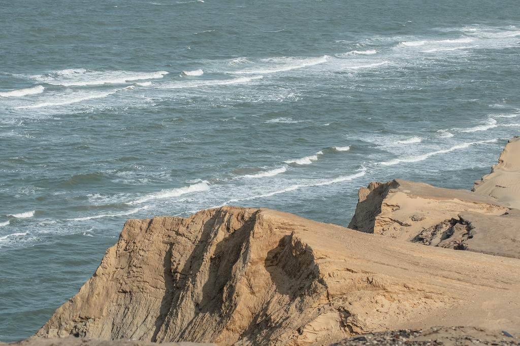 Blick auf Felsen und Meer