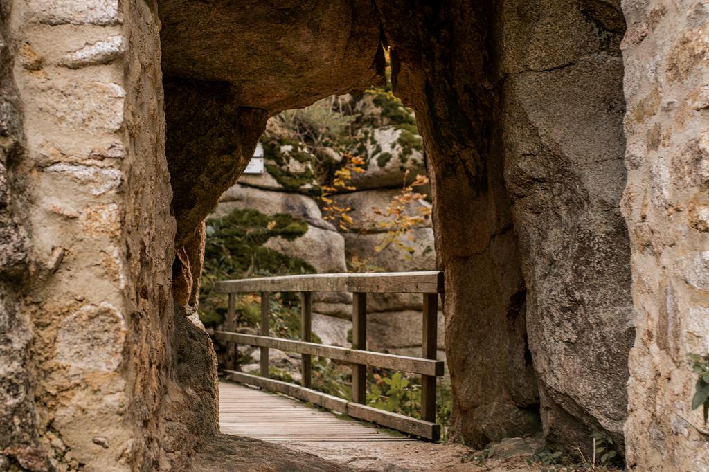 Brücke in der Burg