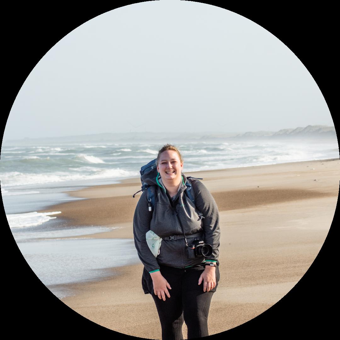 Portraitaufnahme am Strand in Dänemark