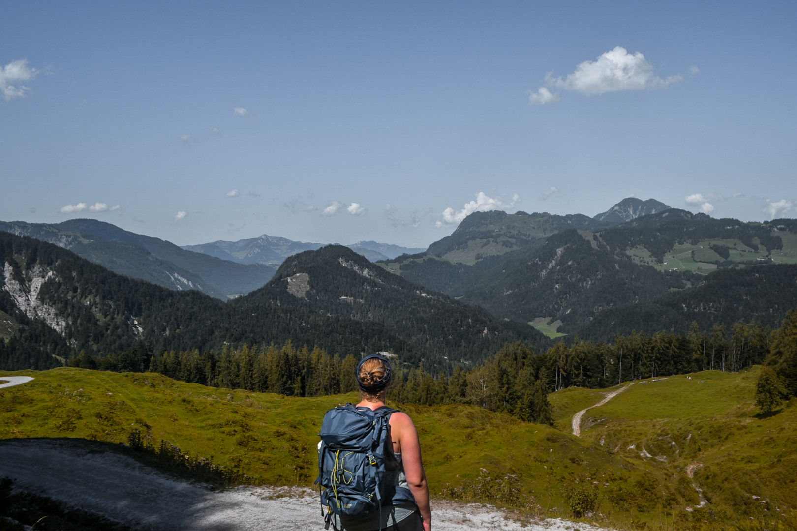 Blick auf die Berglandschaft am Koasa Trail